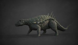 dinosaur acantholipan gonzalezi nodosaurus 3D model