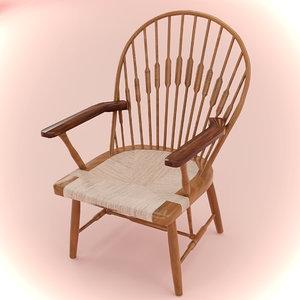 3D peacock chair