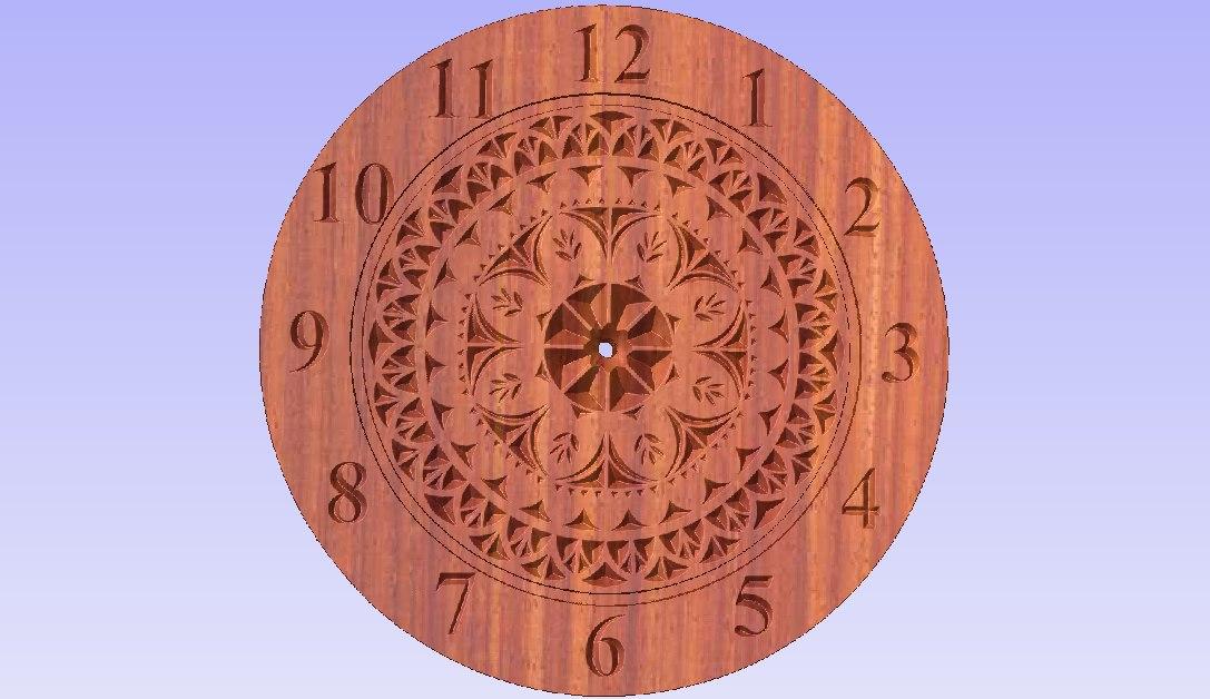 3D model cnc stl clock
