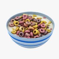 bowl cereals 3D model