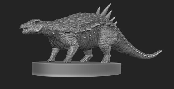 acantholipan gonzalezi dinosaur figurine 3D model