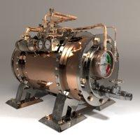 steampunk boiler model
