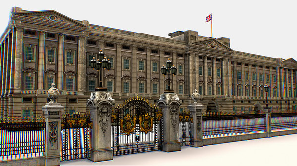 buckingham palace residence administrative 3D model
