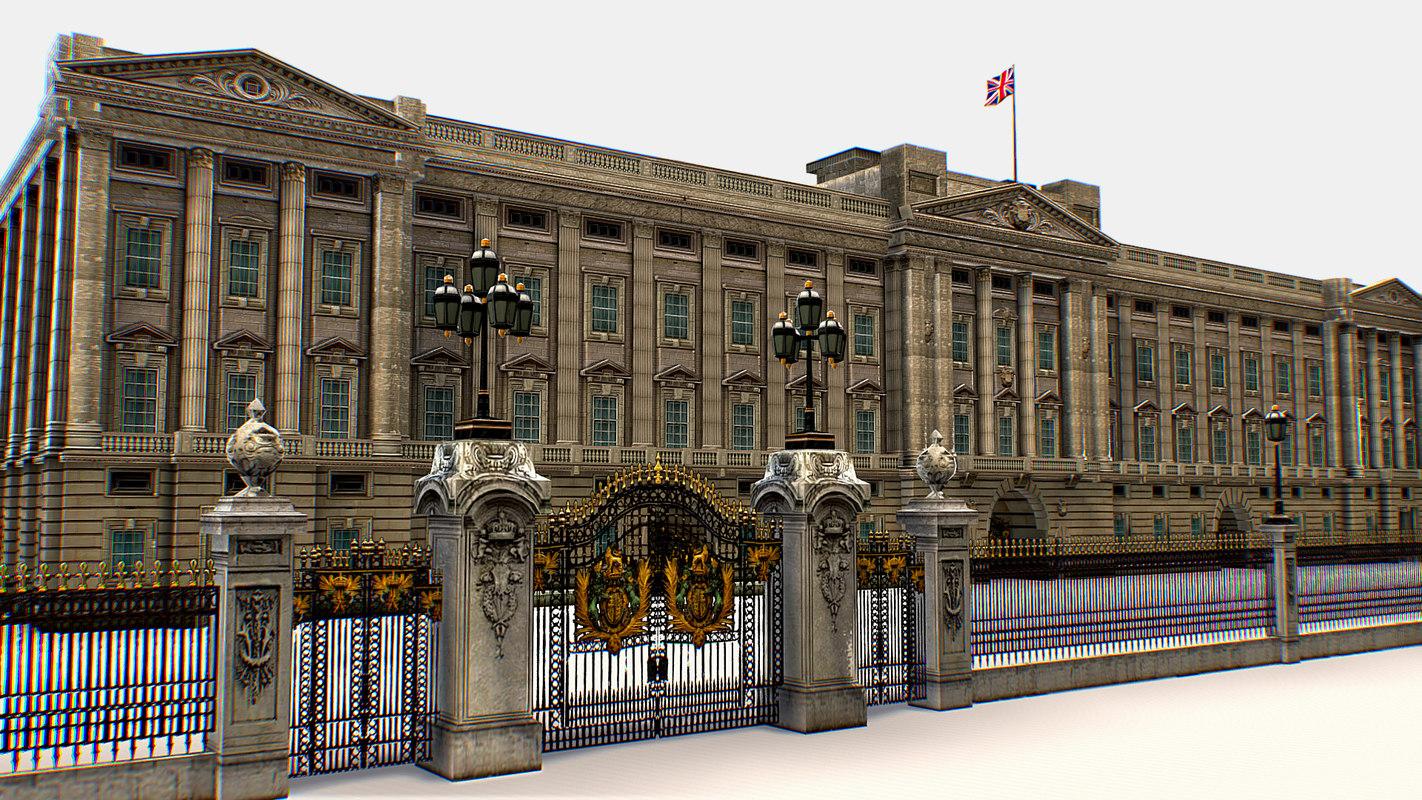 buckingham palace residence administrative 3D model