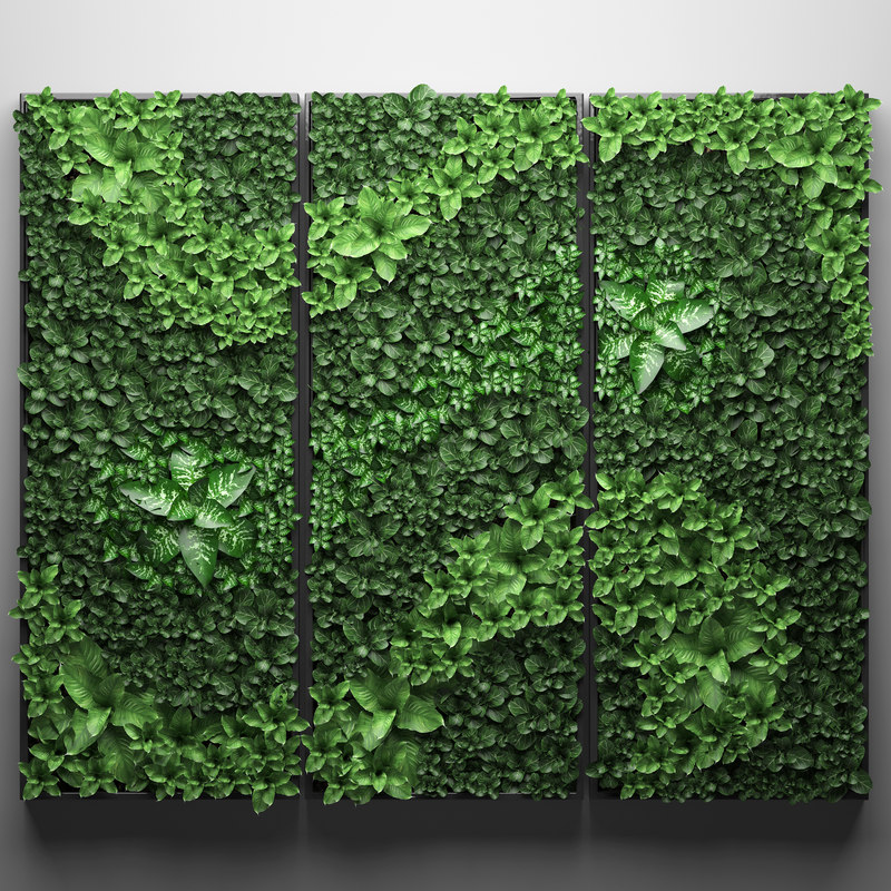 3D vertical gardening picture model