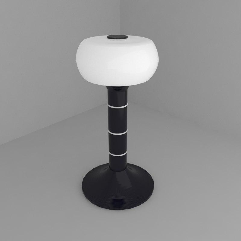 3D lamp tesla light model