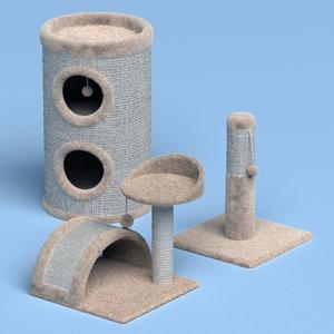 cat playhouse model