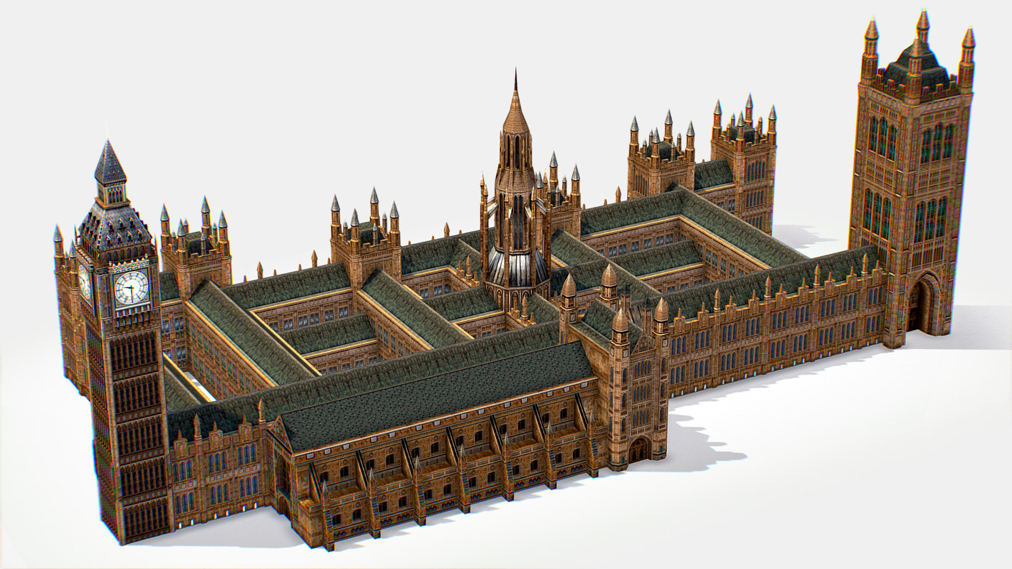 palace westminster house 3D model