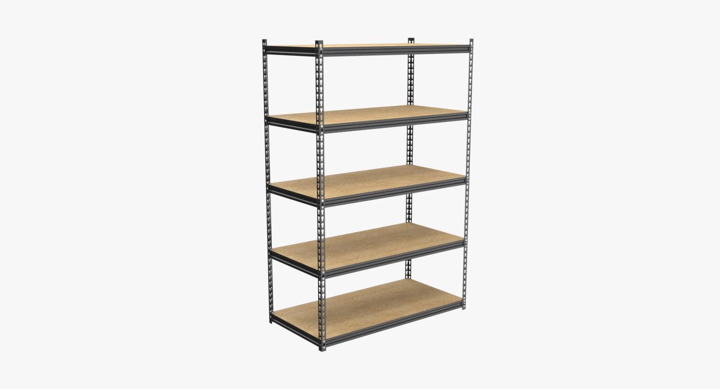 industrial shelf 3D