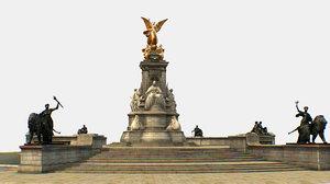 victoria memorial queen 3D