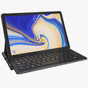 Samsung Galaxy Tab S4 All Colors with Keyboard (Rigged) & S Pen