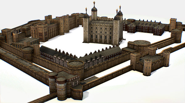 fortress tower london 3D model