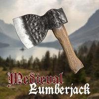 medieval lumberjack hatchet 1 3D model