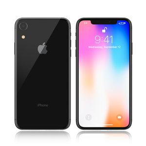 apple iphone 9 black 3D