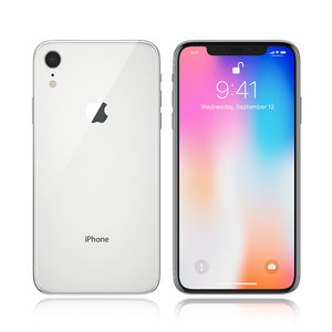 3D model apple iphone 9 white