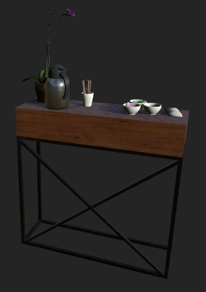 coffee bar table 3D