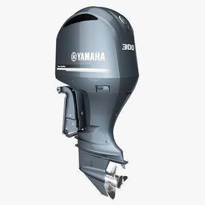 3D yamaha stroke 300hp v6