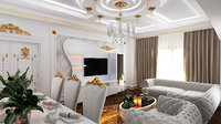 3D livingroom classic ehmedli model