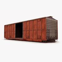 train box car ar 3D model