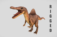 Rigged Spinosaurus Character