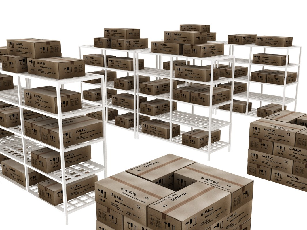 boxes shelf model
