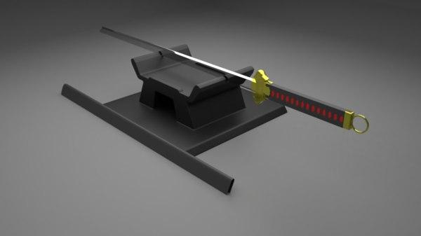 3D tang dao katana sword model
