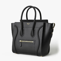 Celine Luggage Handbag Black