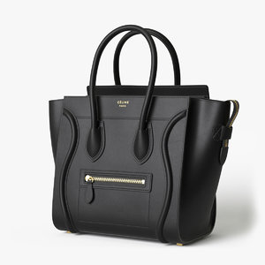 3D model celine luggage handbag black
