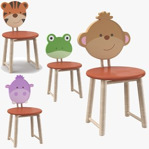 3D kids chairs