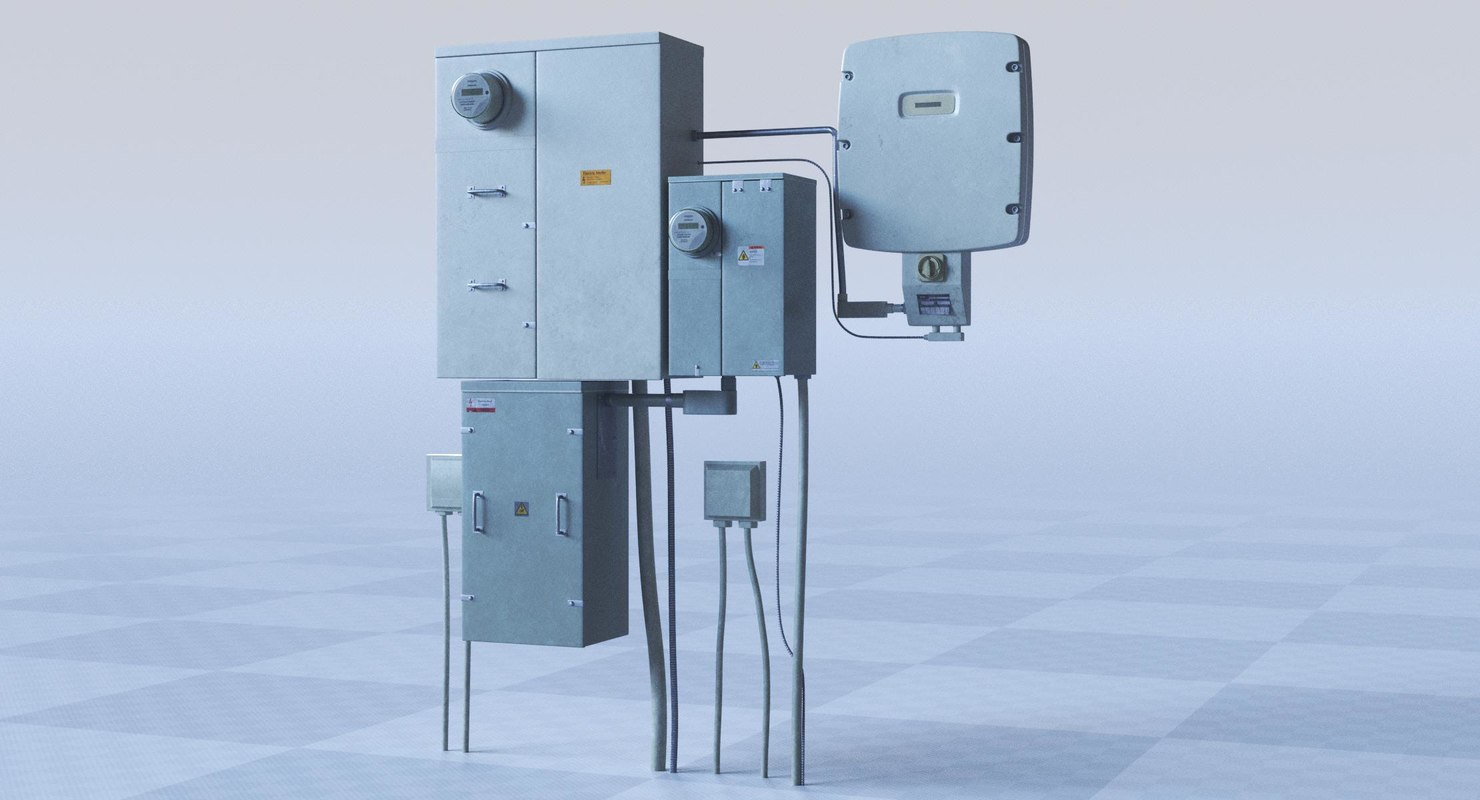 electrical box 3D model