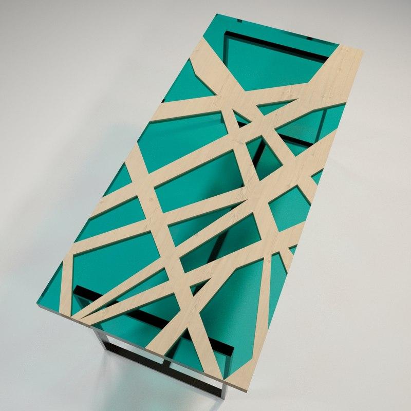 table cnc 3D model