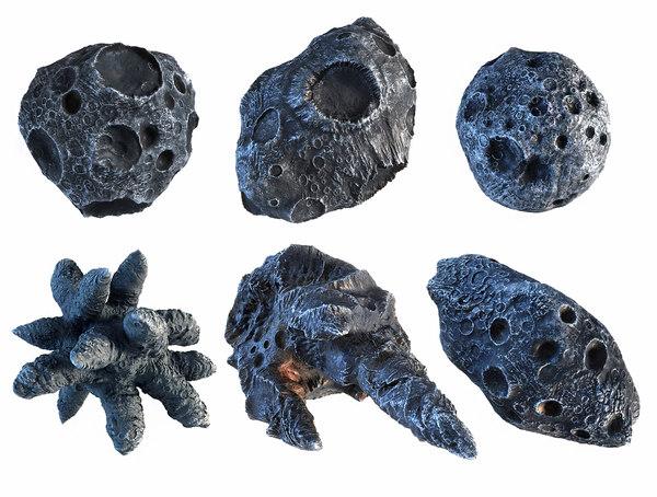 3D iron meteorite pack 6