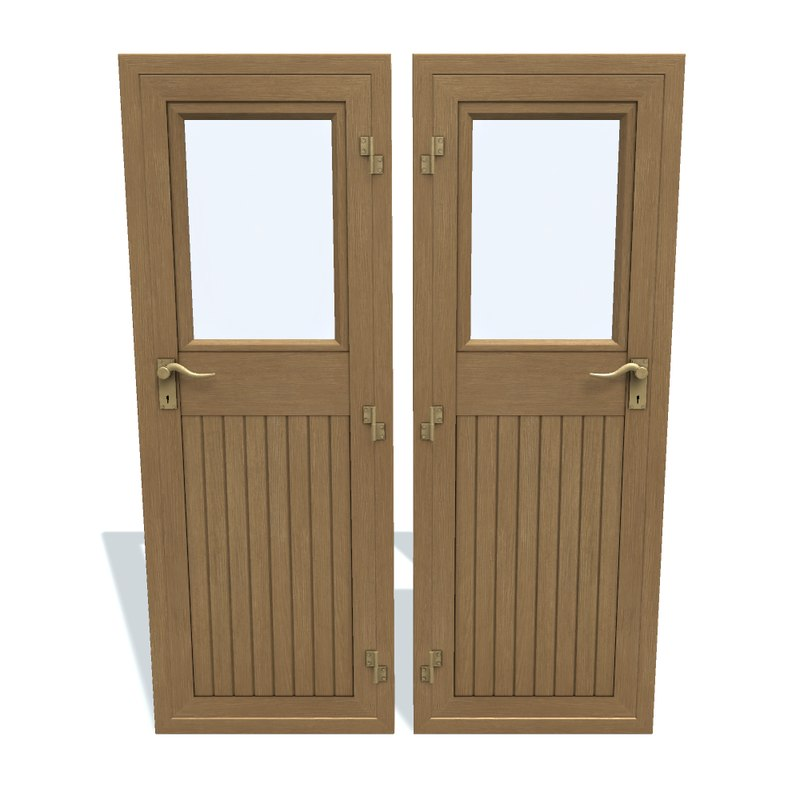 3D model door ship wooden