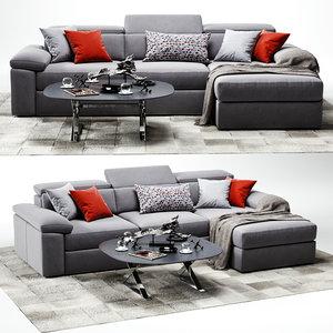 3D vavicci diamante sofa model