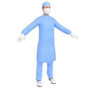 3D female surgeon 1 model