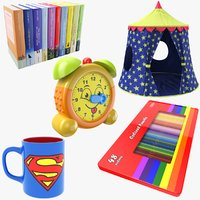 kids stuff tent pencils 3D
