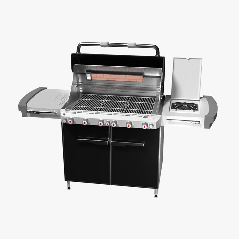 3D barbecue weber summit model