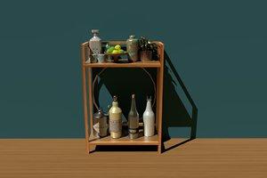 3D bar shelf model