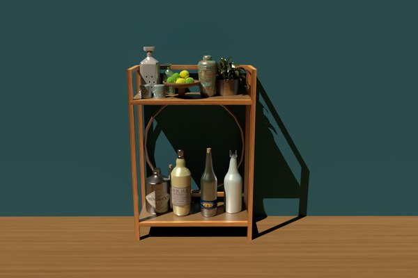 3D bar shelf model