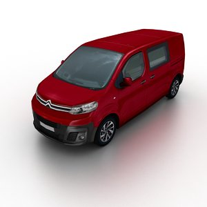 2016 citroen jumpy dispatch 3D model