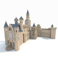 3D castle gothic model