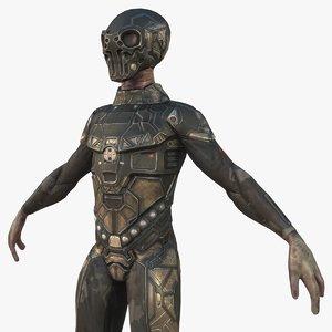 3D model sci-fi alien characters pbr