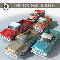3D 5 trucks