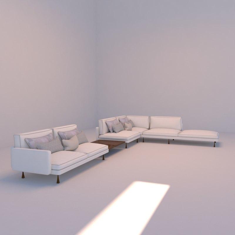 3D sofa table modelling