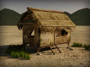 hut shack 3D model