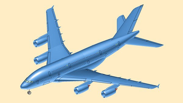 airbus a380-800 aircraft solid model