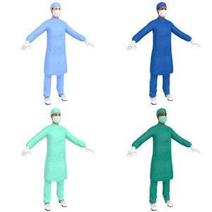 3D pack female surgeon