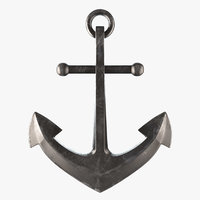 3D old fashioned anchor