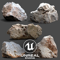 3D ue4 photogrammetry scan stone