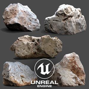 3D ue4 photogrammetry scan stone